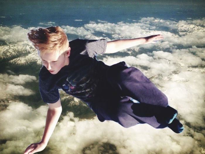 Full Length Jumping One Person Mid-air Energetic Outdoors Water Real People Nature Day Sky Young Adult People Airborne Mountain Range Clouds Spaceman Falling Air Freefall RiseUp Teen Model Teenager Teenage Boy Teenager Life