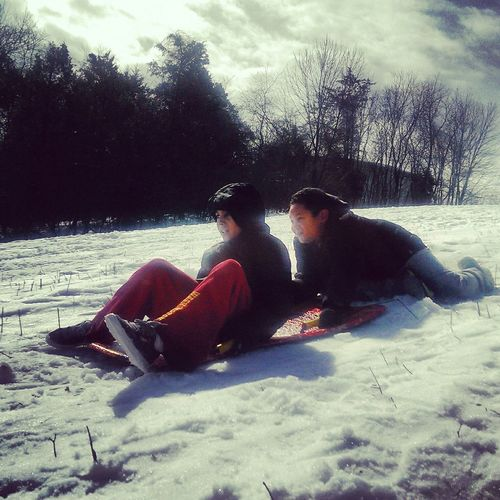 The Human Condition Snow Sledding Enjoying Life Kids Being Kids Photography Joy Little Things Being Young Brotherhood