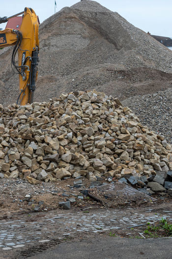 Stack of stones at construction site