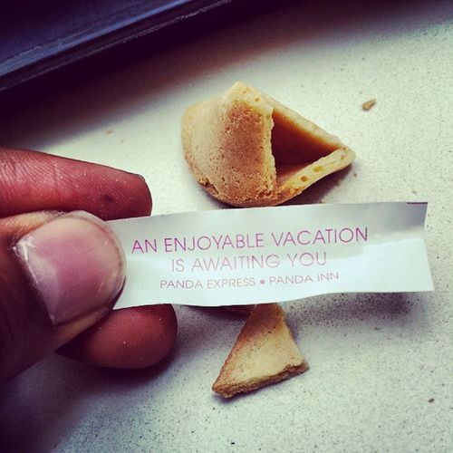 A bit late notice. But SOOO TRUE Fortunecookie Fortunecame True