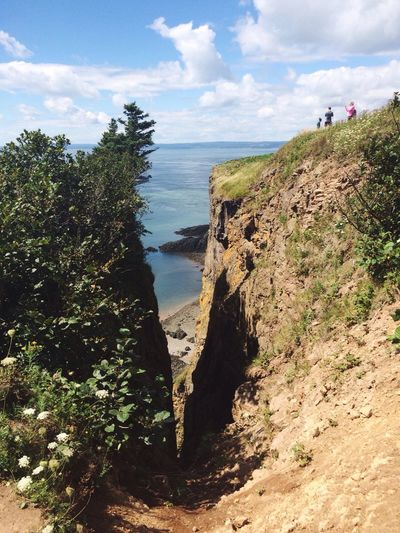 This view was worth the hike Sky Nature Beauty In Nature Tranquility Cliff Landscape Ocean