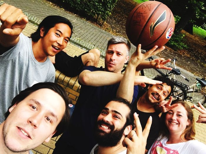 EyeEm Selects Basketball - Sport Basketball Player Sport Playing Friendship Basketball Hoop Fun Teamwork Outdoors Togetherness Smiling Leisure Activity Looking At Camera Court Cheerful Happiness Men Day Young Adult Adult Last Summer EyeEm Team