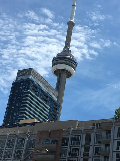Check This Out Hanging Out Taking Photos Enjoying Life Eyemphotography CN TOWER Toronto Canada CN Tower Against Blue Sky Outside Photography Sunny☀ Torontophotographer