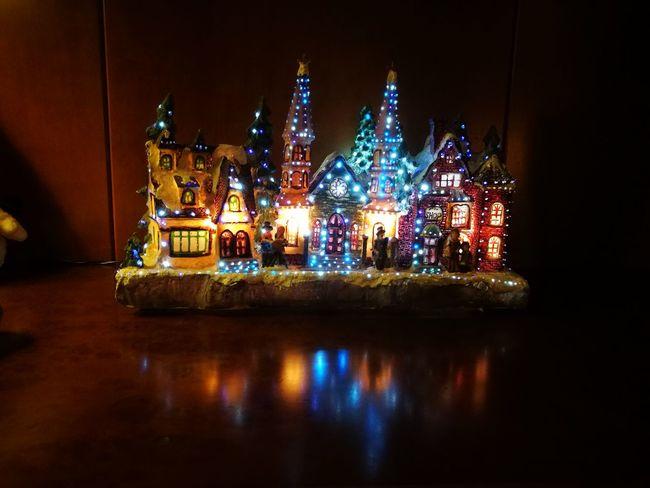 Illuminated Night Celebration Christmas Decoration No People Christmas Lights Multi Colored