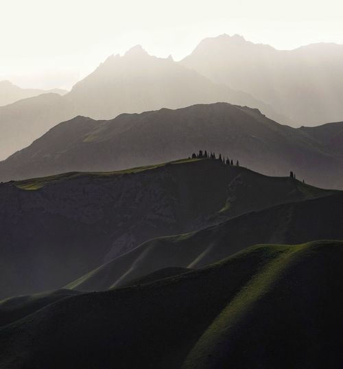 Mountain layers in Kazarman, Kyrgyzstan Kyrgyzstan Silhouette Beauty In Nature Environment Landscape Mountain Mountain Layers Mountain Range Nature No People Non-urban Scene Outdoors Rolling Landscape Scenics - Nature Sunlight Tranquil Scene Tranquility Travel Destinations The Great Outdoors - 2018 EyeEm Awards The Traveler - 2018 EyeEm Awards Capture Tomorrow