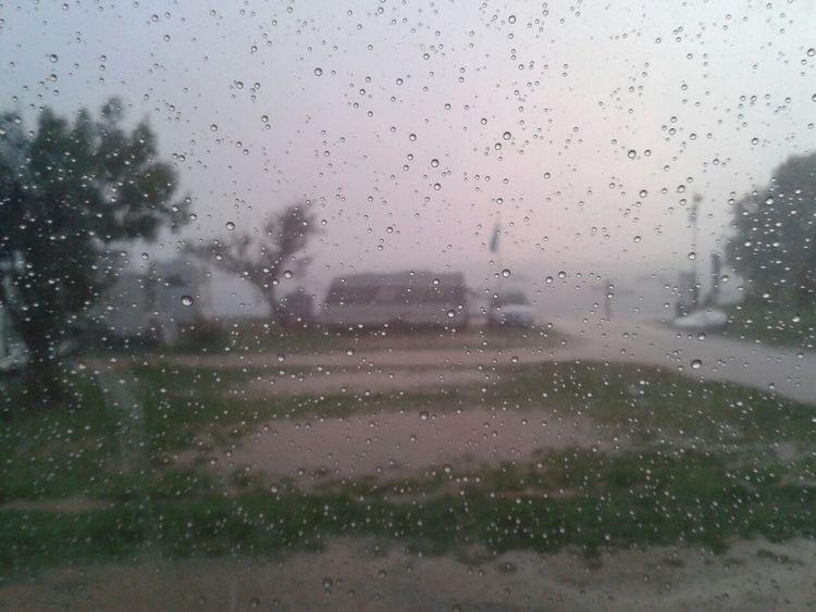 Bad Weather Caravan Park Close-up Mediterranean Sea Nature No People Rain RainDrop Vacation Weather Wet