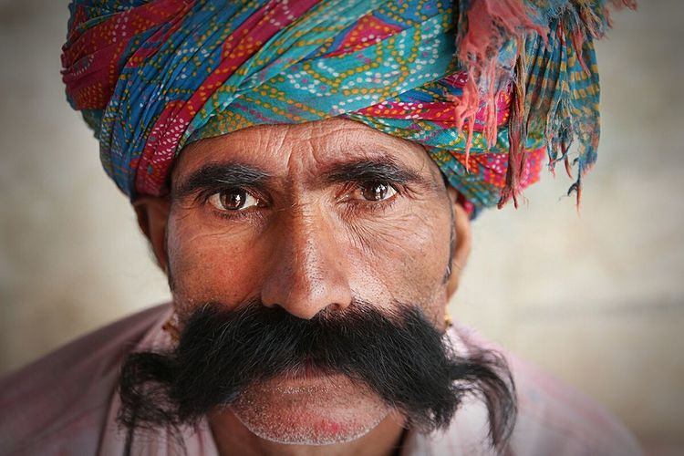 A brijwasi local showing his prized possession, his moustache during the festival of Holi. My Mo For Movember India Dailylife Dailyphoto Turbans Moustache Colors Holi Festival Festival Culture Photojournalism Portraits RePicture Masculinity