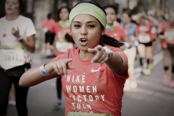 Actitud ante todo reto Carrera Run Running Runner Runners Runnersworld Nike Nikeplus Nikerunning Nikewomen Actitud Reto Medio Maratón Nike Woman