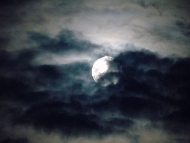 Lua no meu céu. Astronomy Beauty In Nature Cloud - Sky Crescent Half Moon Low Angle View Majestic Moon Moon Surface Nature Night No People Outdoors Planetary Moon Scenics Sky Sky Only Solar System Space Space Exploration Tranquil Scene Tranquility