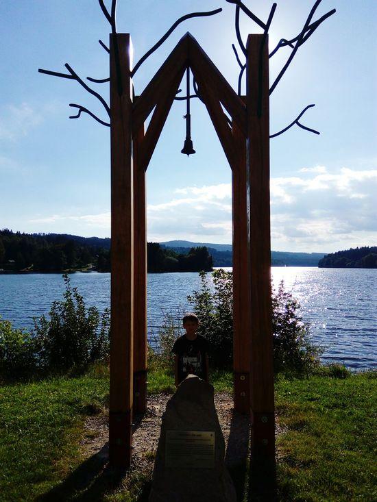Lipno Summertime Bell Czech Republic Water Reflections