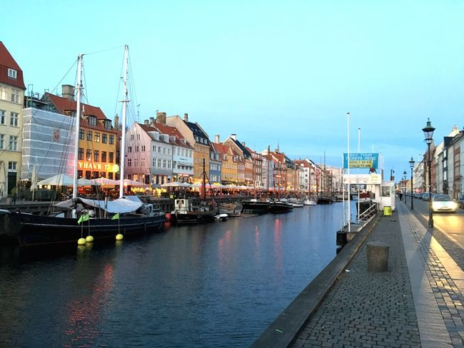 Night Nyhavn Colors of Sunset