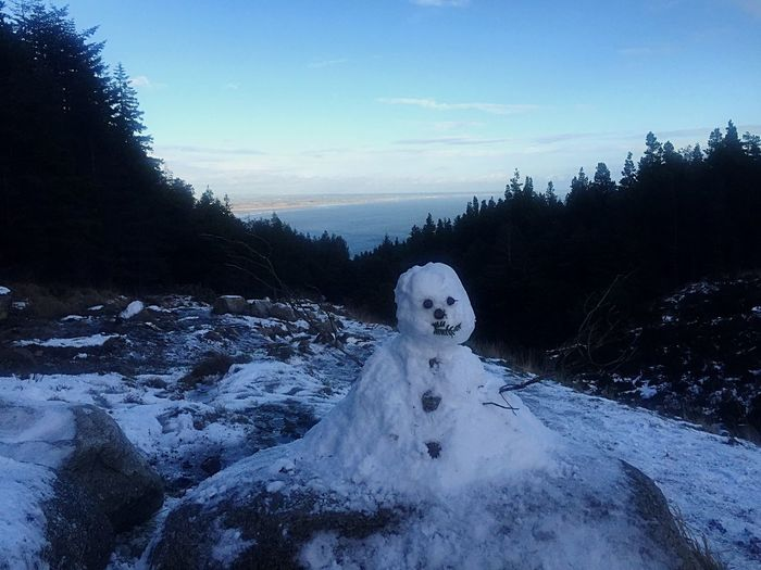 Snowman Hiking