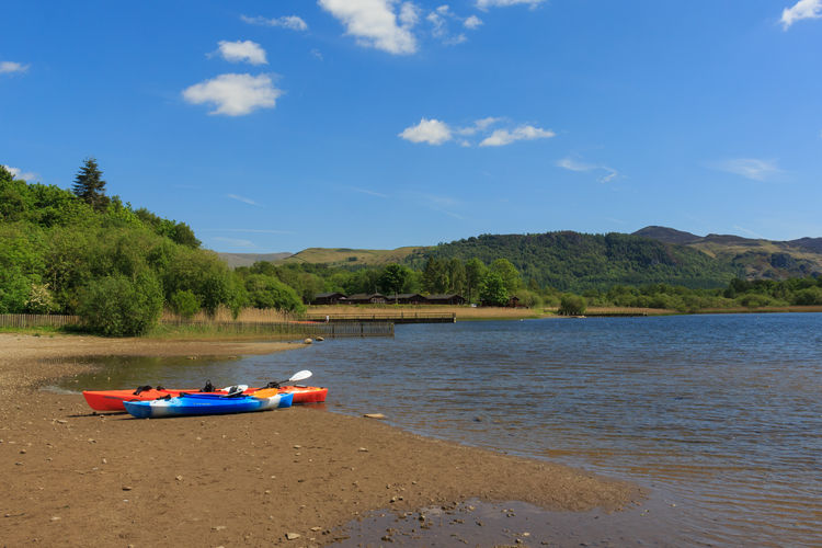 Kayaks on the