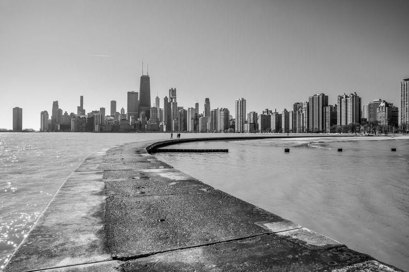 Chicago waterfront along lake michigan