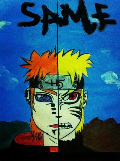 Drawing Pein&Naruto crossover