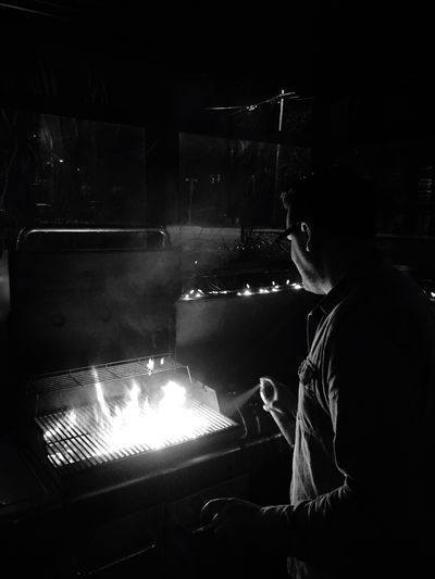 BBQ BBQ Time Bbq Ribs Hanging Out Montreal, Canada Urban Landscape Sillouette Fire Iphoneonly
