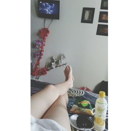 Gloomy weather + Bed + Food + Tv + Internet = Perfect Day Bedweather Happykid Perfect