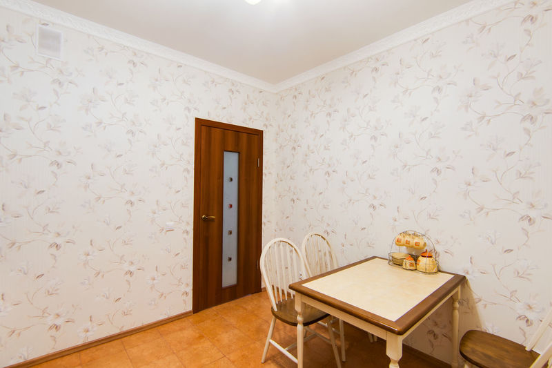Indoors  Home Interior Seat Table Domestic Room No People Wall - Building Feature Furniture Chair Home Showcase Interior Wallpaper Wood - Material Architecture Home Absence Built Structure Lighting Equipment Frame Pattern Empty Ceiling Floral Pattern Luxury