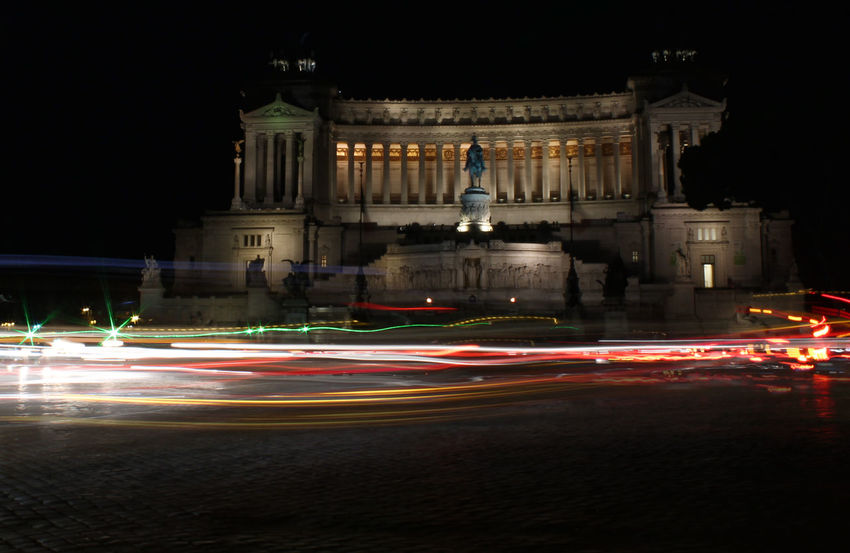 нιgнℓιgнтs σғ яσмε 2017 Italia Light Trails Roma Rome Architectural Column Architecture Blurred Motion Building Exterior Built Structure Car Trails City High Street History Illuminated Infiniteseas Urban Italy Light Trail Long Exposure Motion Night No People Outdoors Road Rome Italy Sculpture Speed Statue Street Light Streetphotography Tourism Tourist Destination Travel Travel Destinations Moving Around Rome