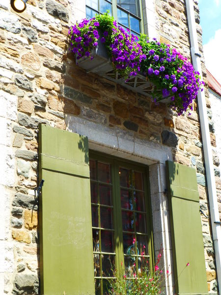 All Over The World Architecture Bright Colored House Bright Colored Shutters Canada Castle Cindy Greenstein Photography Cobblestone Streets Colorful Sky Colorful View Flower Box Funicular Hanging Flower Hanging Flowers Oh Canada Old Buildings Quebec City Shopping ♡ Stone House Uphill Windowbox