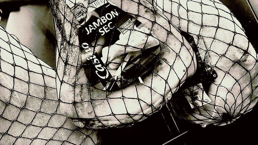 Black And White Photography Cold Cut Coppa Ham Jambon Sec Meat Foo Prosciutto Whole Cured Ham