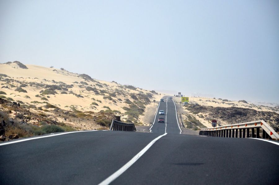 The Journey Is The Destination road trip in sand dunes of corralejo Corralejo Sand Dune SPAIN Trip Traveling Road Trip Vacation Travel
