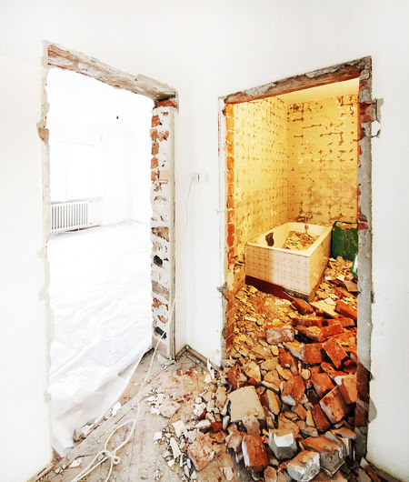 Bricks Chaos Construction Day Demolition Demolition Zone Dirty Home Home Interior Home Renovation  House Materials Renovate Renovated Renovated Building Site Construction Wall