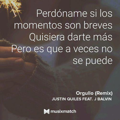Music MusiXmatch Lyricscard JBalvin  Justin Quiles Orgullo Remix
