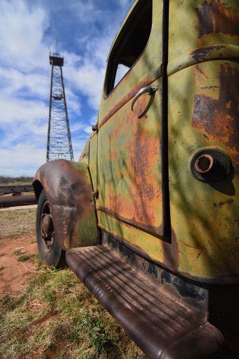 Metal Sky Rusty Transportation Industry Iron - Metal No People Abandoned Day Outdoors Close-up EyeEm Gallery Steel Oil Field This Week On Eyeem Eyeemphotography Industry Metal Industry Texas Photographer Dramatic Sky West Texas West Texas Skies Cloud - Sky