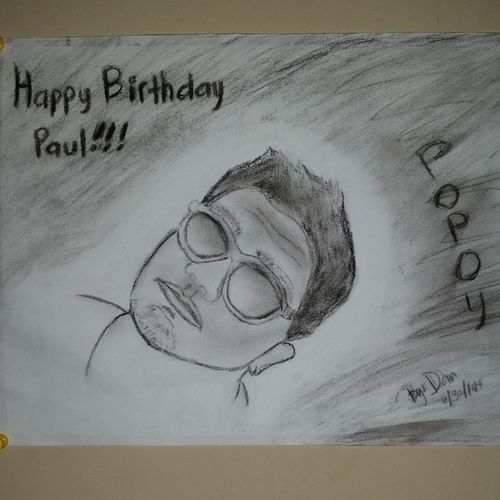 Happy birthday polie? @poljeymz !!! ??? Charcoal Beginner Epicfailsurprise Hahaha