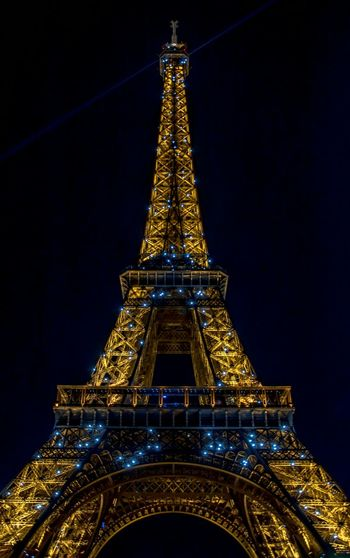 Eifel Tower Night City Architecture Illuminated Travel Destinations Building Exterior Tower Cityscape Gold Colored Outdoors Sky No People Gold Skyscraper Tour Eiffel Paris