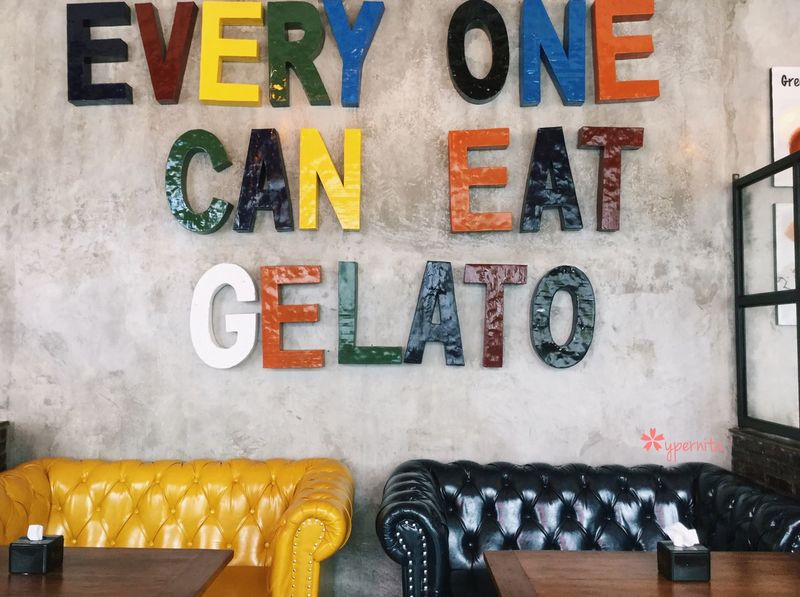 Everyone Can Eat Gelato Multi Colored No People Variation Indoors  Day Gelato Young Adult Leisure Activity Indoors  Sitting Chair Table Explorer Fujifilm_xseries Fujixa1 Happything IPhoneography Relaxation Lifestyles Photography Wanderlust