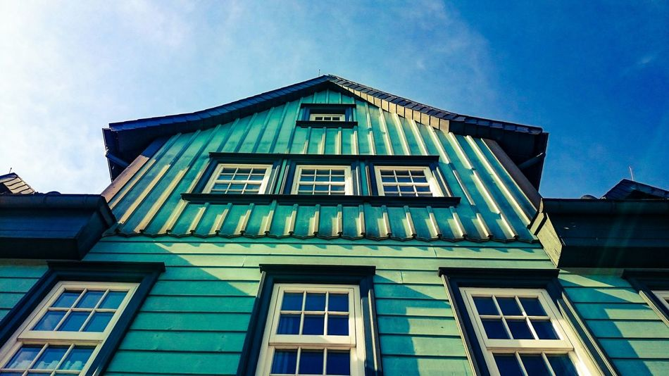 Old House in Light And Shadow. Looking Up in GERMANY🇩🇪DEUTSCHERLAND@.