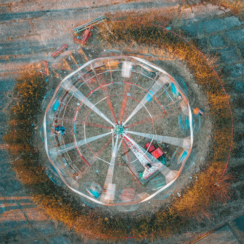 Abandoned amusement park Abandoned Amusement Park Elektrenai Abandoned Places Abandoned Drone  Aerial View Aerial Birds Eye View Europe Drone Photography Mavic 2 Pro Mavic 2 DJI X Eyeem Motion Motion Blur Geometric Shape Circle Shape No People Architecture Built Structure City Day High Angle View Outdoors Directly Above Design Wall - Building Feature Wall Reflection Building Exterior Street Nature Close-up