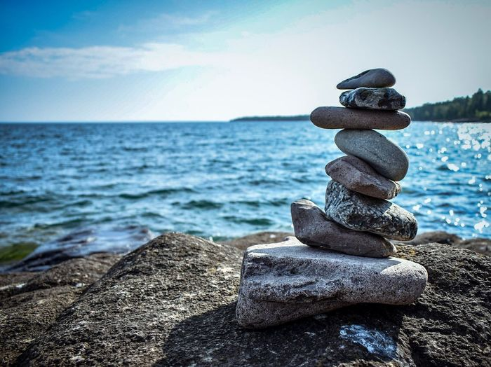 Rock Balance III EyeEm Best Shots - Nature EyeEmBestPics EyeEm Best Shots EyeEm Nature Lover Sea Rock Solid Water Stack Rock - Object Sky Beauty In Nature Horizon Over Water Land Scenics - Nature Tranquility Nature Horizon Tranquil Scene Zen-like No People Beach Stone - Object Balance