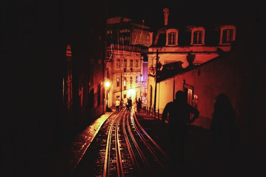 Lisboa Portugal Lisbonlovers Lisboa ♡ Night Illuminated Railroad Track People Outdoors Adult Large Group Of People Men City Lines And Surfaces Lines And Angles Lines, Shapes And Curves Lines And Shapes Photographie  Streetphoto Modern The Week On EyeEm Photooftheday Travel Destinations Streetphotography EyeEmNewHere