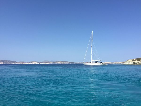 blue , Sky, sea, sailing boat , blue waters, summer, sun , holidays ..best ever moments