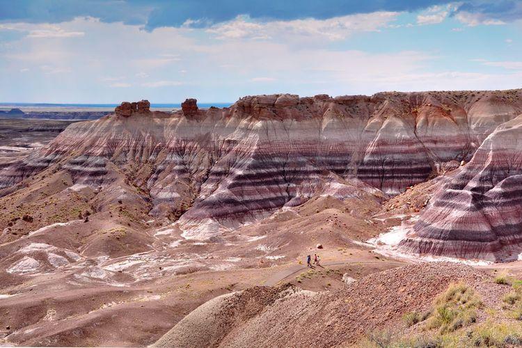Scenic view of painted desert