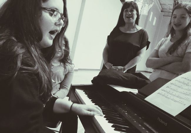 Shes just a girl and shes on fire Singing EyeEm Music Lover Piano Playing Music