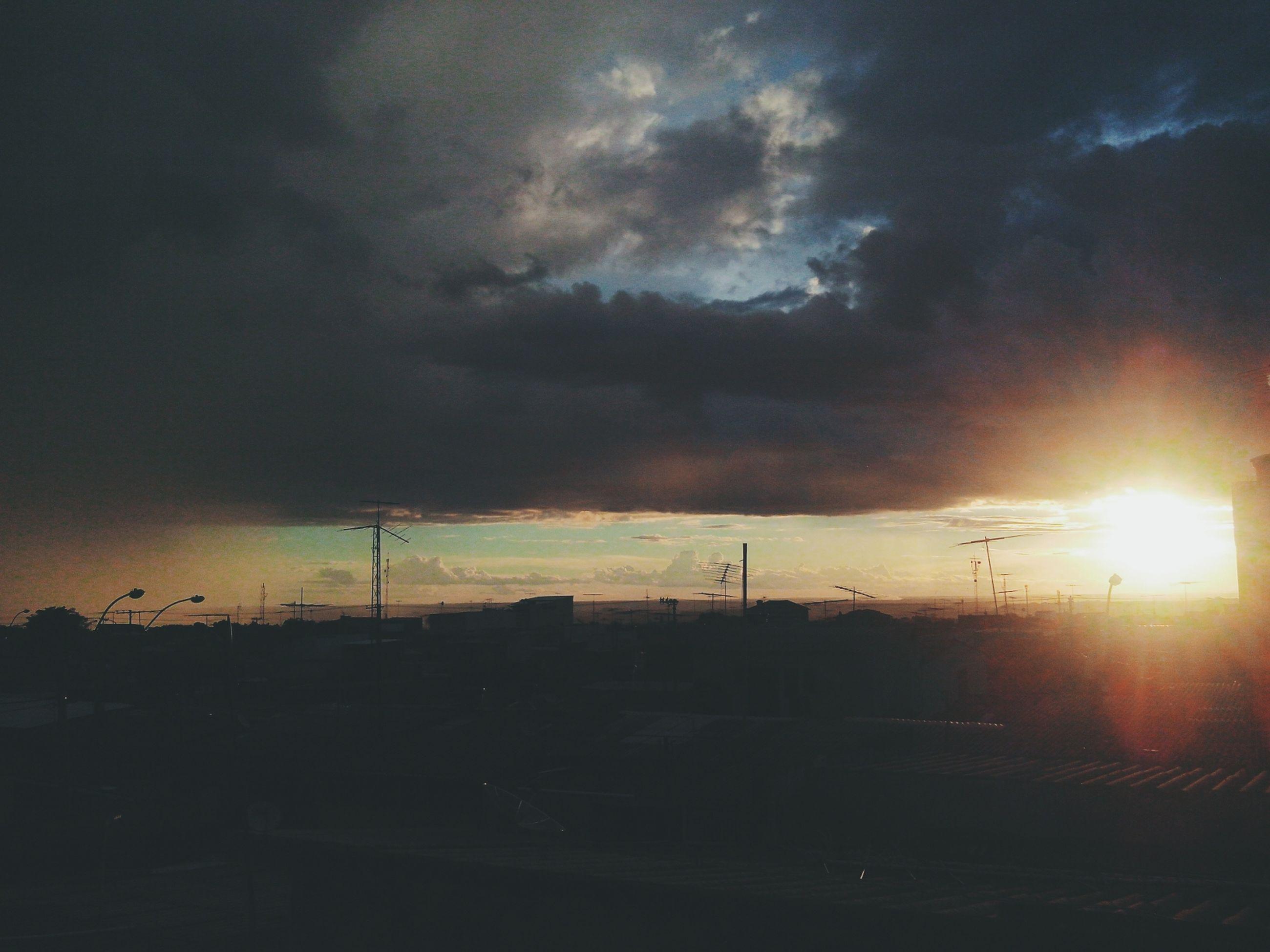 sky, cloud - sky, sunset, cloudy, silhouette, weather, landscape, fuel and power generation, dramatic sky, overcast, nature, electricity pylon, storm cloud, cloud, dusk, scenics, sun, transportation, outdoors, beauty in nature
