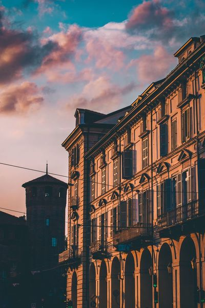 TO EyeEm Selects Architecture Built Structure Building Exterior Sky Cloud - Sky Nature City No People Low Angle View Building Old Sunset Outdoors Travel Destinations Dusk History Street