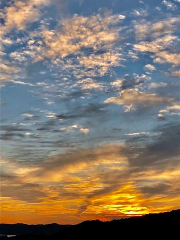 A Dramatic Sunset Sky. (181102-181126) Cloud - Sky Sky Sunset Scenics - Nature Beauty In Nature Tranquility Tranquil Scene Nature Environment Cloudscape Non-urban Scene Dramatic Sky Orange Color Silhouette Idyllic Dusk Outdoors No People Low Angle View