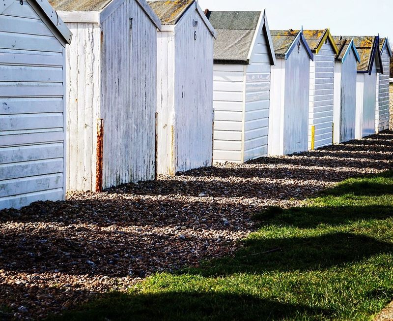 Beach huts Architecture Built Structure Building Exterior Outdoors House Day No People Beach Hut Beach Photography Sea Beach Life Worthing Seaside