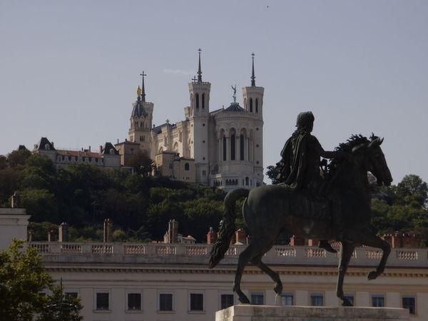 Fourvière  Lyon France Architecture Building Exterior Built Structure Carte Postale Destinationweddingphotographer History Horse Outdoors Sculpture Statue Voyage à Nantes