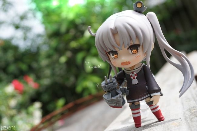 Amatsukaze: b-baka! Art Close-up Day Focus On Foreground Nature No People Outdoors Selective Focus White White Color Amatsukaze Nendoroid 艦隊これくしょん ねんどろいど Outdoor Photography Green Color Toy Cute Anime Toyphotography Kantaicollection (null)艦コレ Kancolle Creativity