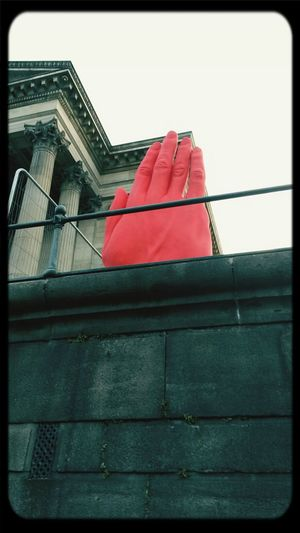 The giant red hand