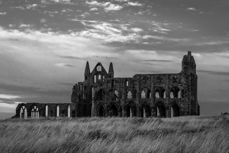Whitby Abbey Ancient Architecture Building Exterior Built Structure Cloud - Sky Day Grass History Nature No People Old Ruin Outdoors Sky The Past
