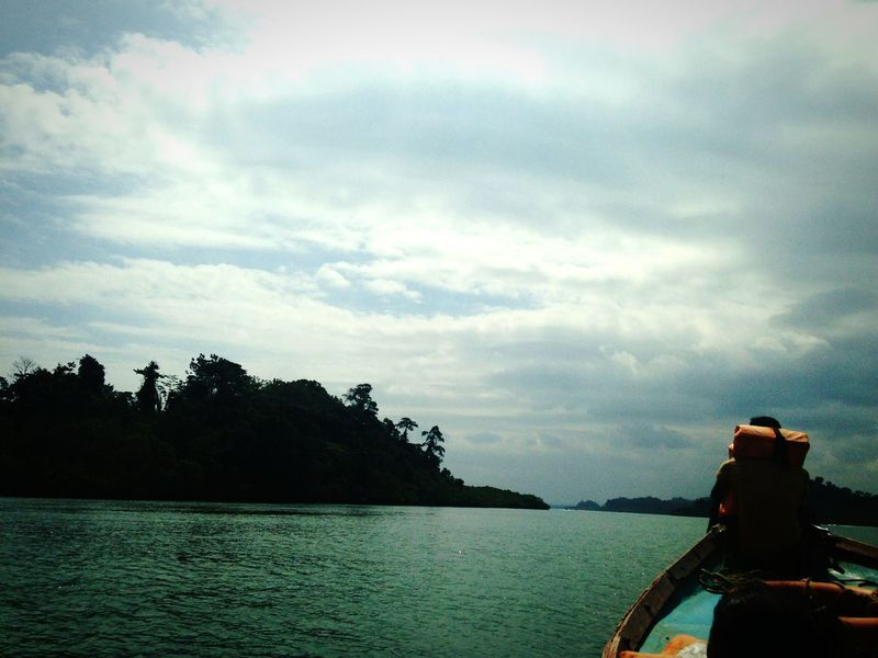 Forward Boat Orangelife Jacket Navigation Ocean Clouds India Sadness At Sea
