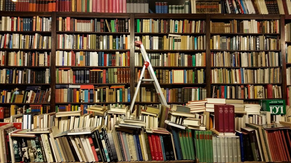 Antiquariat Book Library Choice Indoors  Bookstore Literature Large Group Of Objects Education Abundance No People Book Cover Bookshelf Shelf Berlin Photography