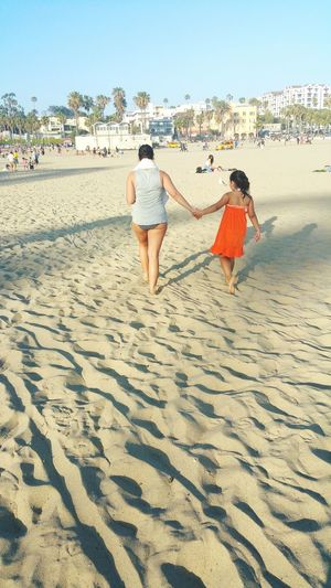 Sand Love ♥ Live for the Story Just The Two Of Us Holding Hands Walking Hand In Hand Beach Venice Beach RePicture Motherhood My Daughter My Heart And Soul Summer In Cali